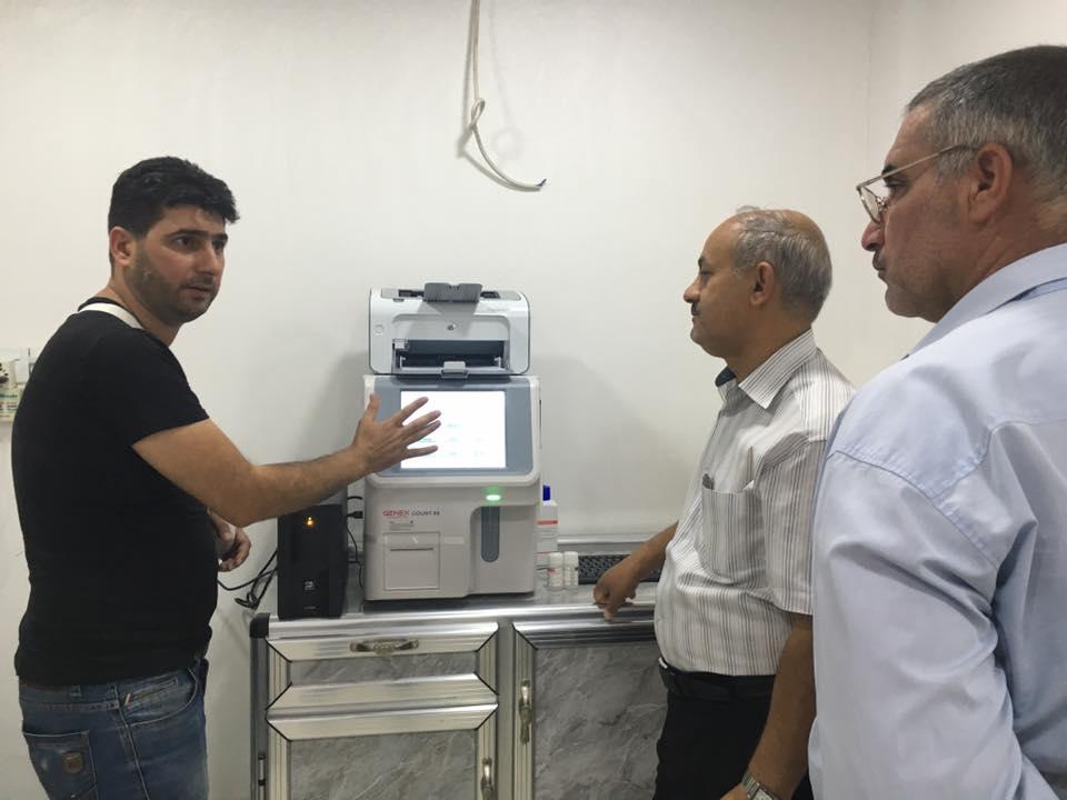 AL-MUBDAA Scientific Company in al-Kawthar lab. Hematology 3diff. Genex