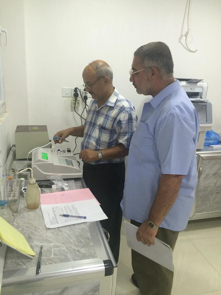 AL-MUBDAA Scientific Company in al-Kawthar lab. THROMBO Semi Automated Coagulation analyzer