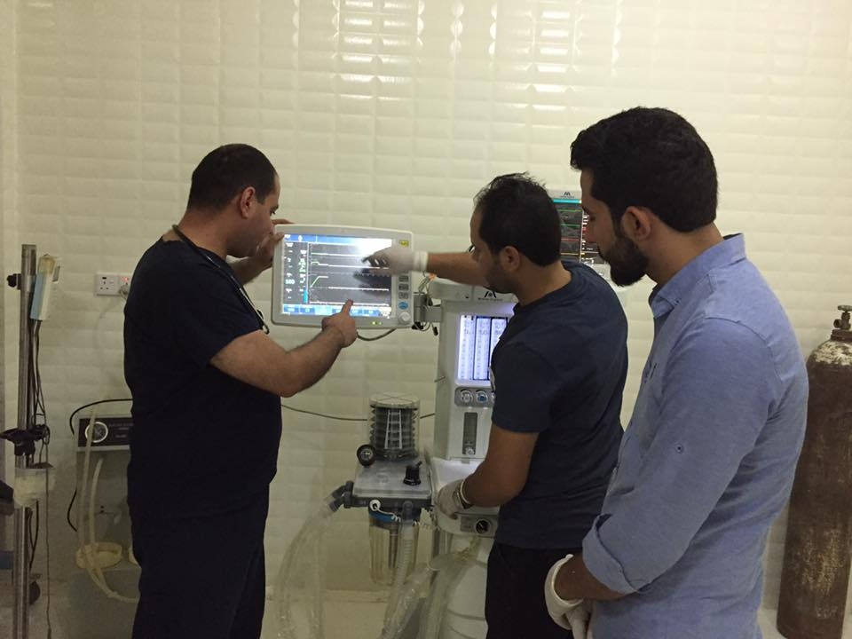 AL-MUBDAA Scientific Company in AL-Tawfiq Hospital / Anesthesia workstation Meditec ( ENGLAND )