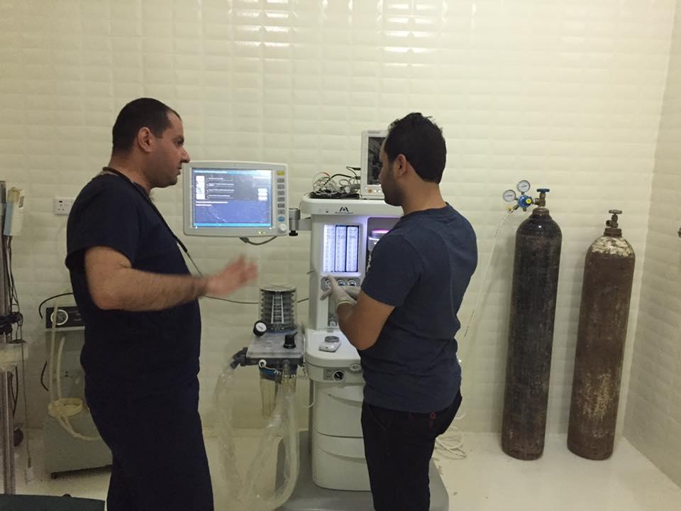 AL-MUBDAA Scientific Company in AL-Tawfiq Hospital / Anesthesia workstation Meditec ( ENGLAND )