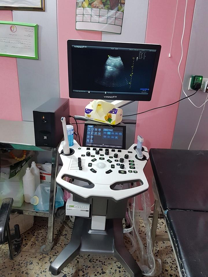 شركة المبدع العلمي في عيادة د. يسار الفتلاوي / جهاز سونار فينو E-10