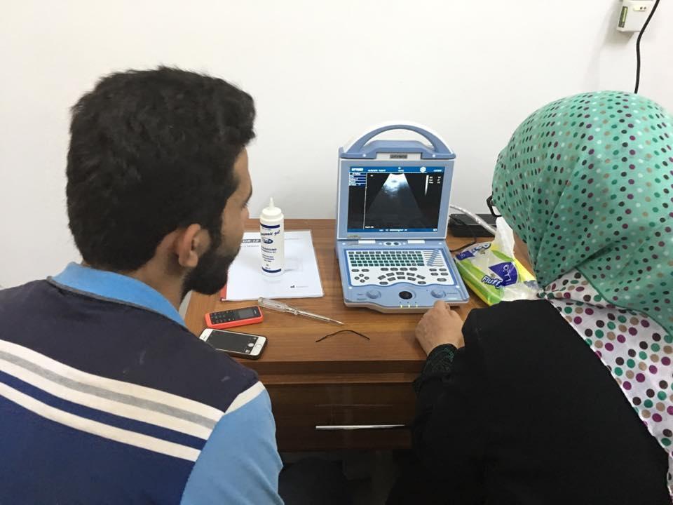 شركة المبدع العلمي في عيادة د. ابتسام عباس رضا / جهاز سونار US-12