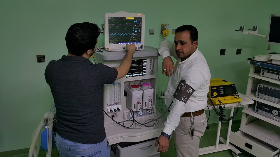 AL-MUBDAA Scientific Company in Lebanese University Hospital / Anesthesia carts