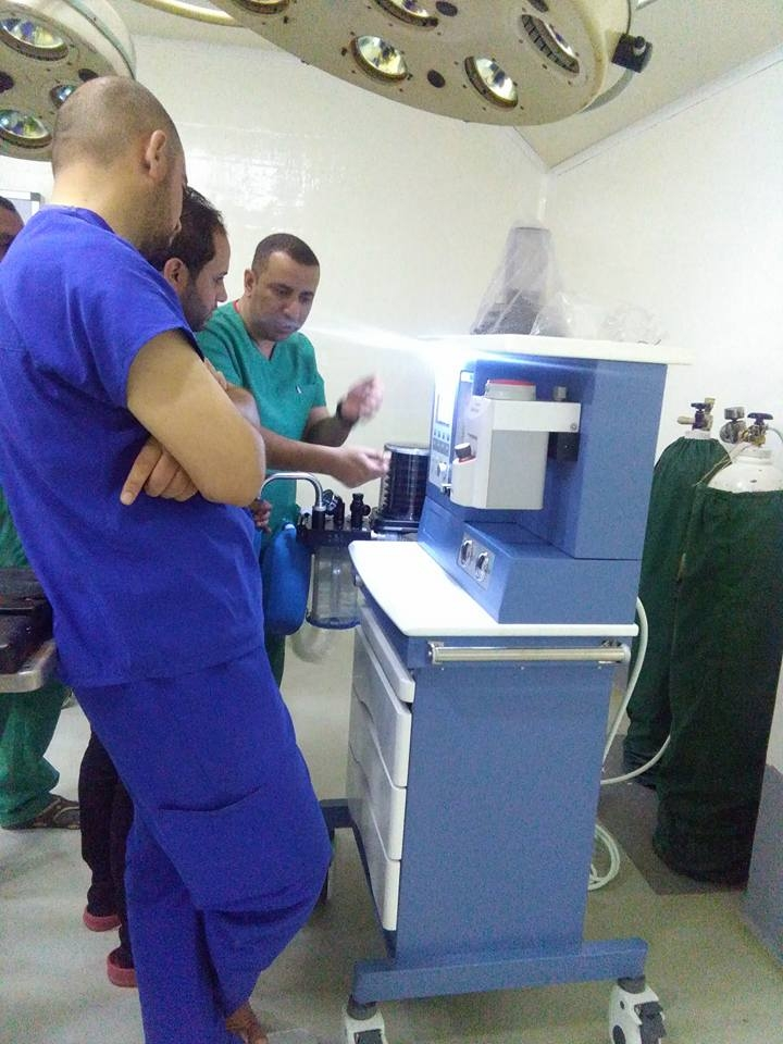 AL-MUBDAA Scientific Company in ALSHEFAA Hospital / Anesthesia carts