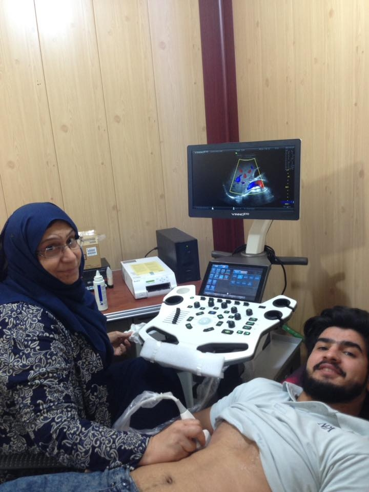AL-MUBDAA Scientific Company in Dr. SAHAR FARIS / Ultrasound VINNO E-10