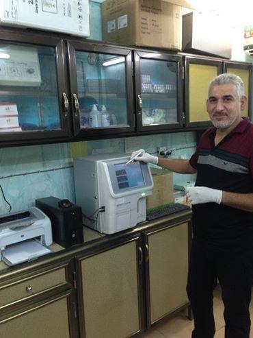شركة المبدع العلمي في الزبير ... جهاز هيماتولوجي في مختبر الحسيني