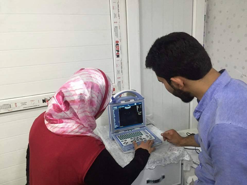 شركة المبدع العلمي في بابل / عيادة د. سوسن محمد فنون السعيدي / جهاز سونار US-12