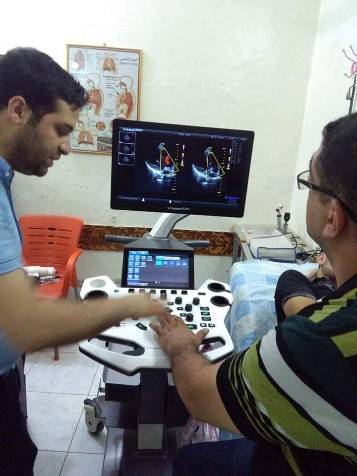 AL-MUBDAA Scientific Company in Dr. aqeel manthor Ultrasound VINNO E-20