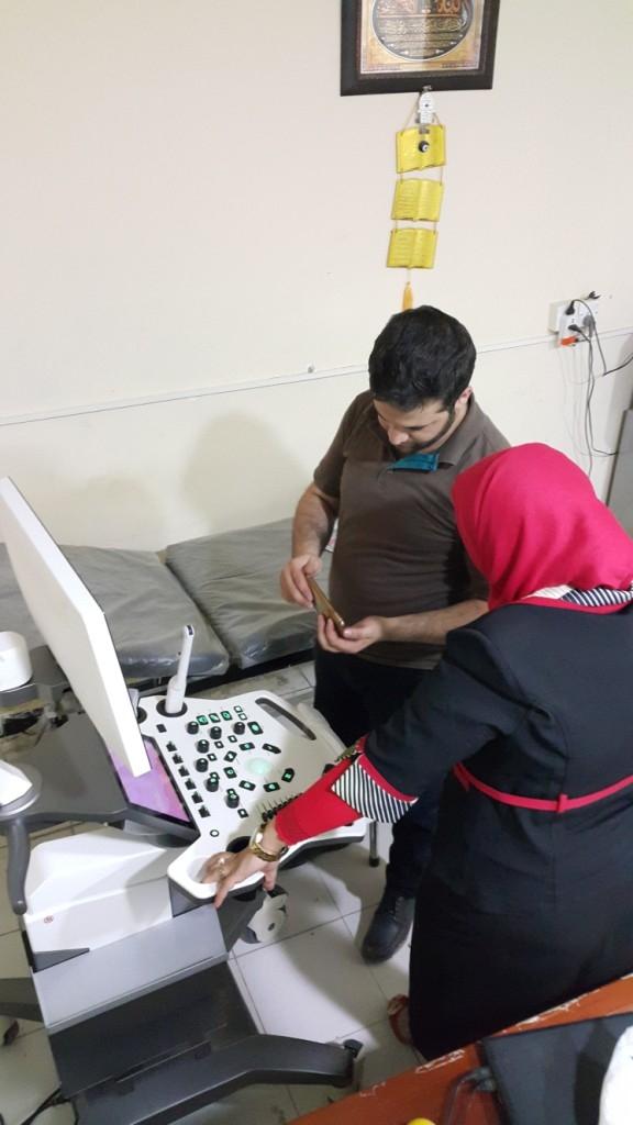 AL-MUBDAA Scientific Company in Dr. Jenan yosif  Ultrasound VINNO E-10