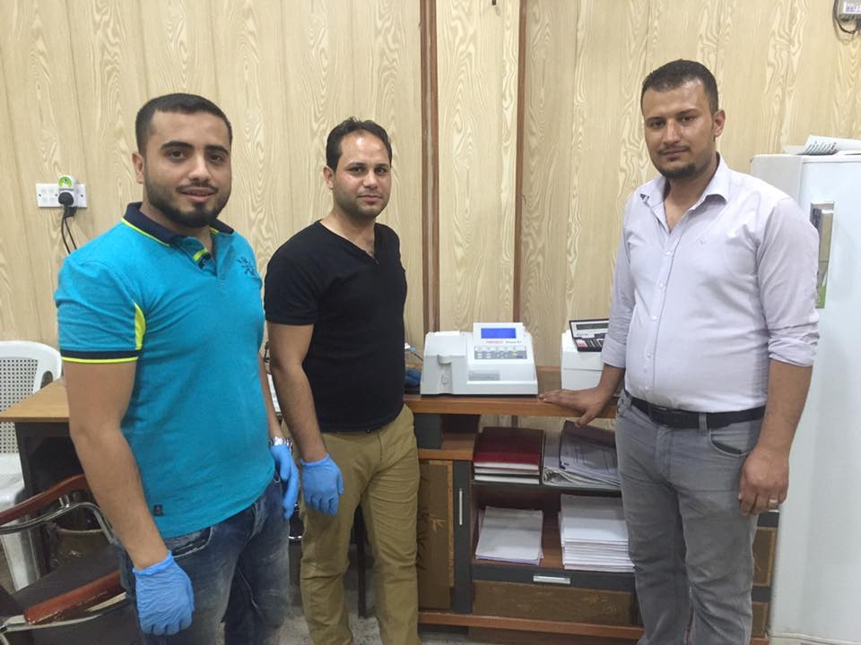 AL-MUBDAA Scientific company in dr. Iskandar lab / Semi-auto biochemical analyzer Chem-S1