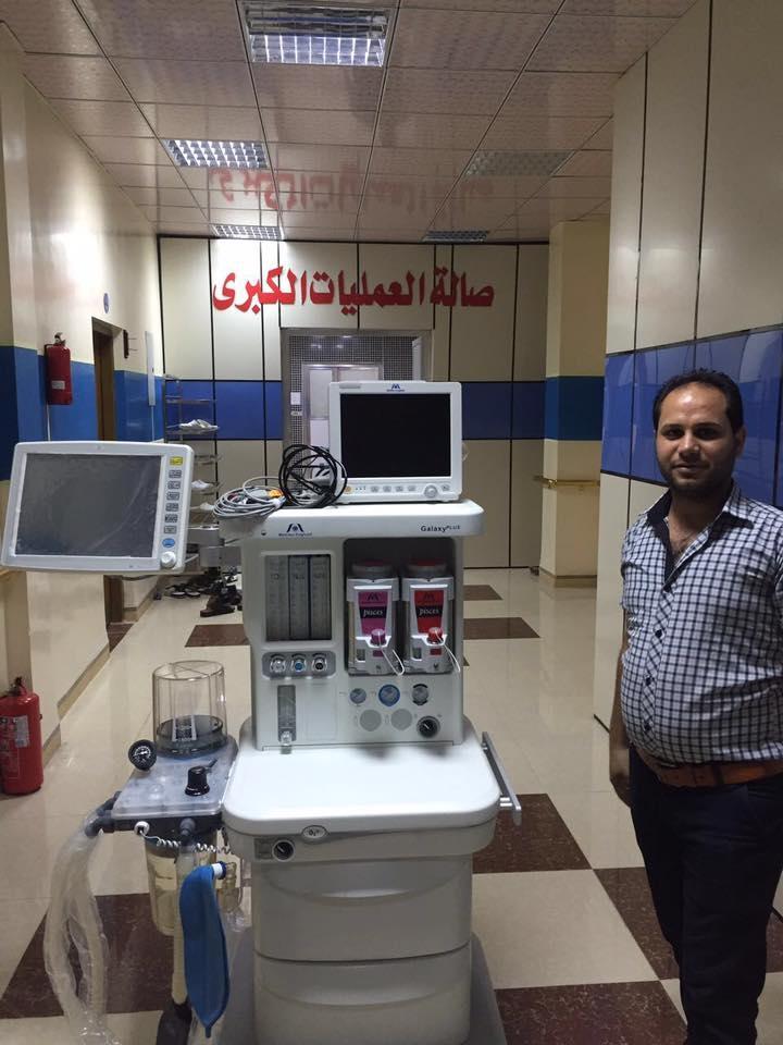 شركة المبدع العلمي في صلاح الدين / مستشفى التوفيق الاهلي عربة تخدير انكليزي