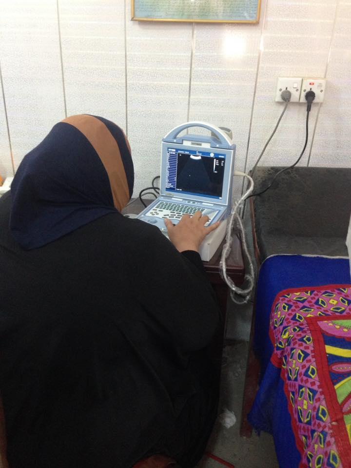 AL-MUBDAA Scientific company in Dr. Saba fadhel / ultrasound