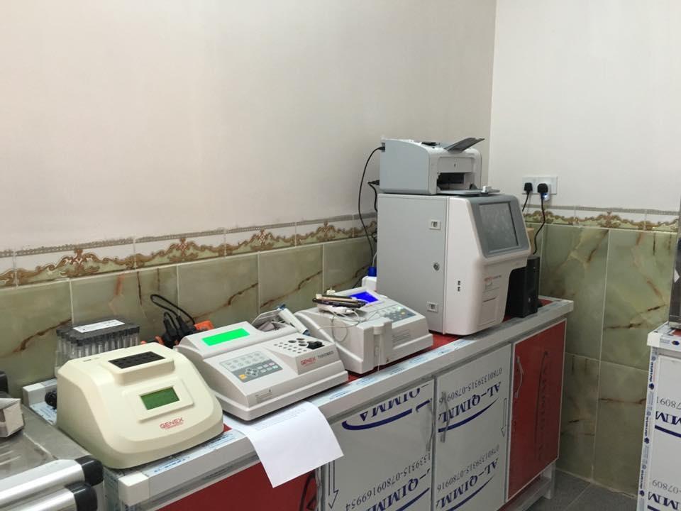 Integrated laboratory processing in Ibn al-Haytham compound lab