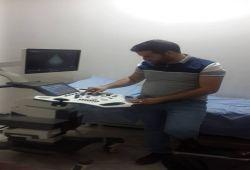 شركة المبدع العلمي في عيادة د. حسن احمد فدعم ( قلبية ) / جهاز سونار فينو E-20