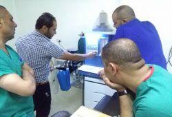 شركة المبدع العلمي في مستشفى الشفاء الاهلي / عربات تخدير