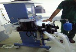 شركة المبدع العلمي في مستشفى الشفاء الاهلي في الديوانية عربة تخدير