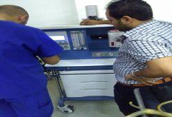 AL-MUBDAA Scientific Company in ALSHEFAA Hospital / Anesthesia carts