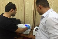 شركة المبدع العلمي في بابل / مختبر د. اسكندر/ جهاز التحليل الكيمياء الحيوية شبة التلقائئ