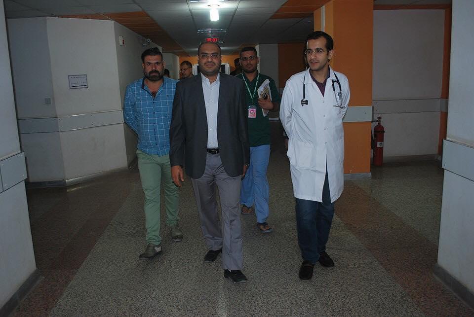 معاون مدير عام دائرة صحة ذي قار يقوم بجولة تفقدية ليلا ًُ لمركز الناصرية للقلب