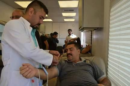 تنفيذ حملة للتبرع بالدم في كركوك
