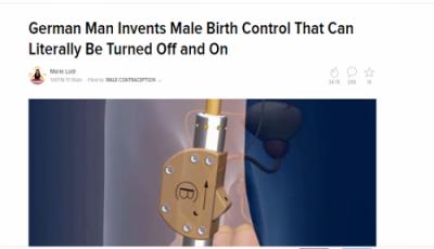 بالصور.. وسيلة جديدة لمنع الحمل للرجال بضغطة زر