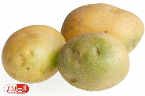 إحذر .. البقع الخضراء في البطاطا