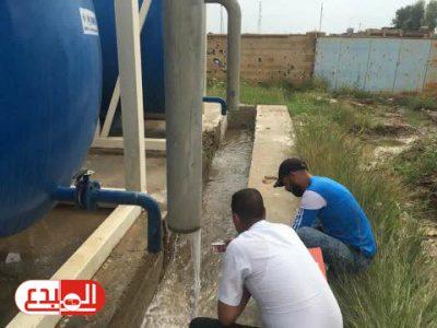 الرقابة الصحية تنفذ حملة تفتيشية واسعة لمشاريع الماء في ناحية يثرب