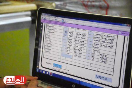 افتتاح المرحلة الثانية في نقل البيانات المختبرية الكترونيا في مستشفى سوق الشيوخ