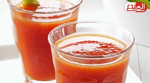 عصير الطماطم لخفض ضغط الدم !!!